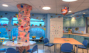 The new Playroom includes space for arts and crafts, reading, playing and lounging