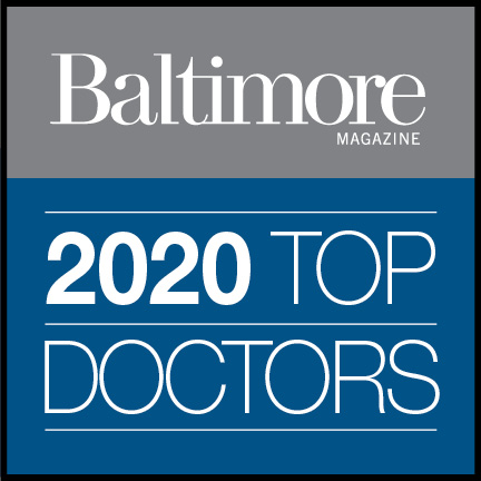 Baltimore Magazine's 2018 Top Doctor badge