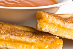 Grilled cheese and tomato soup is one of the yummy options on our Room Service menu