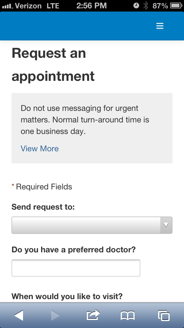 Mobile Appointment Request