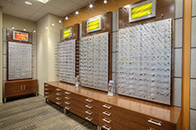 Eyeglass selection at the Krieger Eye Institute at Northwest Hospital