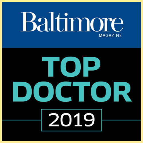 Logo for Baltimore Magazine's 2019 Top Doctor list
