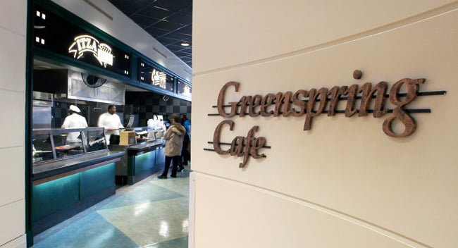 Entrance to the Greenspring Cafe
