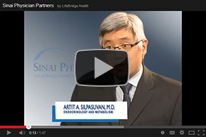 Artit A. Silpasuvan, M.D., Division of Endocrinology and Metabolism at Sinai Hospital of Baltimore