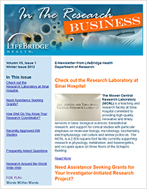 LifeBridge Health Research Newsletter 2013