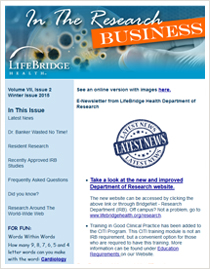 LifeBridge Health Research Newsletter 2014