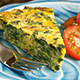 Crustless Spinach Artichoke Quiche